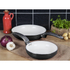 Swan SWPS2010BN 2 Piece Retro Frying Pan Set - Black - 20/28cm: Image 2