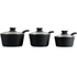 Tower T90921B Taper 3 Piece Saucepan Set - Black - 18/20/22cm: Image 2
