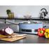 Morphy Richards 973033 Accents Saute Pan with Glass Lid - Cornflower Blue - 28cm: Image 2