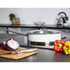 Morphy Richards 79006 Accents Saute Pan with Glass Lid - White - 28cm: Image 2