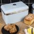 Swan SWKA1010BLN Retro Bread Bin - Blue: Image 2
