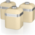 Swan SWKA1020CN Retro Set of 3 Canisters - Cream: Image 1