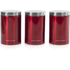 Morphy Richards 974069 Set of 3 Storage Canisters - Red: Image 1