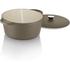 Tower IDT90002 Cast Iron Round Casserole Dish - Latte - 26cm: Image 2