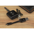 Kit USB to Micro USB Keyring Data & Charge Cable - Black: Image 2