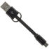 Kit USB to Micro USB Keyring Data & Charge Cable - Black: Image 1