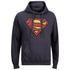 Sweat à Capuche Homme - DC Comics Logo Superman Effet Usé - Bleu Pétrole: Image 1