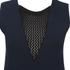 Sonia by Sonia Rykiel Women's Fishnet V-Neck Dress - Navy/Black: Image 3