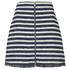 Sonia by Sonia Rykiel Women's Tweed Striped Skirt - Navy/Ecru: Image 1