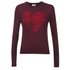Sonia by Sonia Rykiel Women's Intarsia Heart & Tiger Print Jumper - Brownie/Navy/Black: Image 1