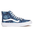Vans Women's Sk8-Hi Slim Zip Indigo Tropical Trainers - Blue/True White: Image 1