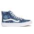 Vans Women's Sk8-Hi Slim Zip Indigo Tropical Trainers - Blue/True White: Image 1