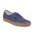 Vans Men's Authentic Washed Canvas Trainers - Dress Blues/Gum: Image 4