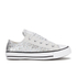 Converse Women's Chuck Taylor Textile Glitter OX Trainers - Silver/Mouse/White: Image 1