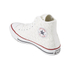 Converse Men's Chuck Taylor All Star Woven Canvas Hi-Top Trainers - White/Red: Image 4