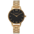 Olivia Burton Women's Midi Dial Watch - Black Dial/Gold Bracelet: Image 1