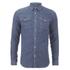 Selected Homme Men's None Sweat Denim Shirt - Light Blue Denim: Image 1