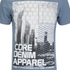 Dissident Men's Arrow Crane Graphic Print T-Shirt - Vintage Blue: Image 3