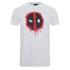 Marvel Men's Deadpool Paint Logo T-Shirt - White: Image 1