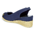 Lauren Ralph Lauren Women's Camille Canvas Wedged Espadrilles - Sailing Navy: Image 4