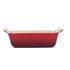 Le Creuset Stoneware Small Heritage Rectangular Roasting Dish - Cerise: Image 2