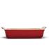 Le Creuset Stoneware Large Heritage Rectangular Roasting Dish - Cerise: Image 2
