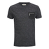 Brave Soul Men's Exit Zip Pocket Fleck T-Shirt - Charcoal: Image 1