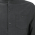 Brave Soul Men's Oakley Collarless Long Sleeve Shirt - Charcoal/Black: Image 3