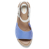 Clarks Women's Tustin Sinitta Leather Double Strap Sandals - Blue Combi: Image 5