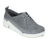 Clarks Women's Tri Angel Leather Sporty Shoes - Grey/Blue: Image 4