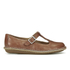 Clarks Women's Tustin Talent Leather Mary Jane Flats - Dark Tan: Image 1
