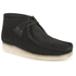 Clarks Originals Men's Wallabee Boots - Black Suede: Image 2