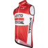 Lotto Soudal Kaos Gilet 2016 - Red/White: Image 2