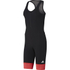adidas Women's Adistar Bodysuit - Black/Red: Image 1