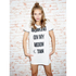 MINKPINK Women's Moon Dance T-Shirt Dress - White/Black: Image 2
