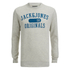 Jack & Jones Men's Seek Crew Neck Sweatshirt - Treated White: Image 1