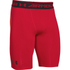 Under Armour Men's HeatGear Long Compression Shorts - Red/Black: Image 1