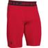 Under Armour Men's HeatGear Long Compression Shorts - Red/Black: Image 1