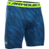 Under Armour Men's HeatGear Armour Printed Compression Shorts - Blue/Yellow: Image 1