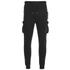 4Bidden Men's Guard Slim Fit Sweatpants - Black: Image 1