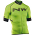 Northwave Extreme Full Zip Short Sleeve Jersey - Green Fluo: Image 1