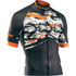 Northwave Blade Air Full Zip Short Sleeve Jersey - Camo/Orange Fluo: Image 1