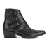 Toga Pulla Women's Limited Edition Buckle Side Leather Heeled Ankle Boots - Black: Image 1