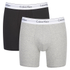 Calvin Klein Men's 2 Pack Boxer Briefs - Black/Grey Heather: Image 1