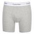 Calvin Klein Men's 2 Pack Boxer Briefs - Black/Grey Heather: Image 2