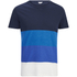 Jack & Jones Herren Core Dylan Block Stripe T-Shirt - Navy : Image 1