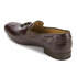 H Shoes by Hudson Men's Pierre Croc Leather Tassle Loafers - Brown: Image 4