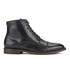 H Shoes by Hudson Men's Seymour Leather Toe Cap Lace Up Boots - Black: Image 1