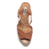 Dune Women's Iyla Leather Platform Heeled Sandals - Tan: Image 3