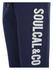 Soul Cal Men's Large Logo Cuffed Sweatpants - Navy: Image 3